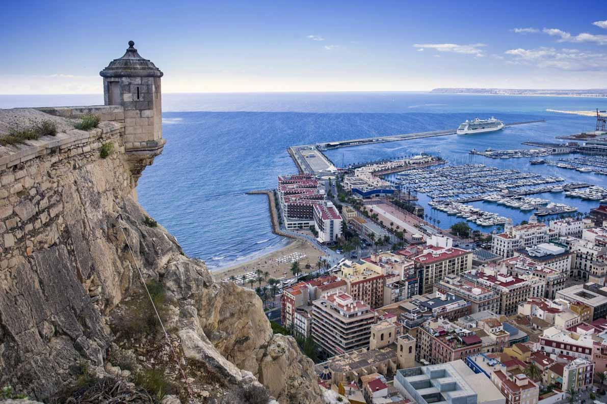 El tiempo en Alicante desde el castillo de Santa Barbará